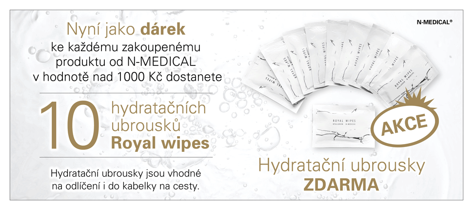 Akce - hydratační ubrousky zdarma