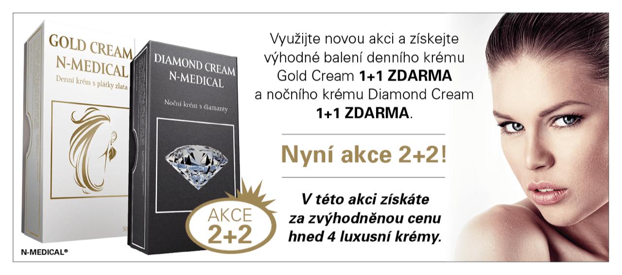 Denní a noční krém - AKCE 2+2 ZDARMA